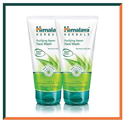 HIMALAYA HERBALS Reinigendes Neem-Gesichtswaschgel 150g | Reinigt gründlich Poren und entlastet Akne | Kräutergesichtsreinigung mit Ölkontrolle (2-Pack Neem Face Wash Gel)