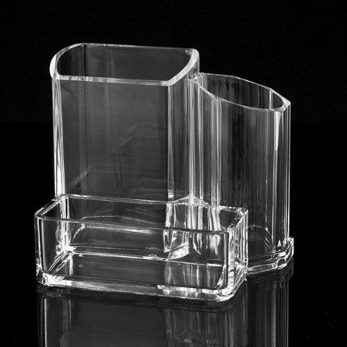 YSHON acrilico trasparente multifunzione portapenne Card Holder Storage Box Organizer
