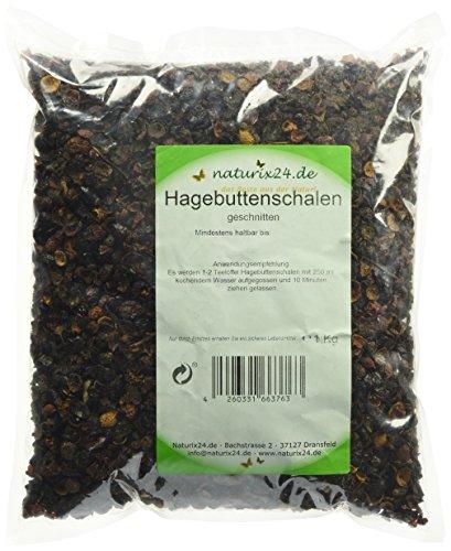 Naturix24 Hagebuttentee, Hagebuttenschalen geschnitten - Beutel, 1er Pack (1 x 1 kg) -