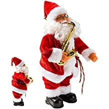 Père Noël Chantant Automate Père Noël Décoration Musical Décor Classique