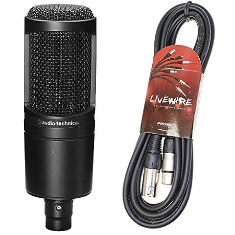 Audio Technica AT2020 Condenser Mic & Pro XLR lead Bundle -Exclusive Deal