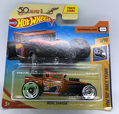 Hot Wheels 2018 Bone Shaker Rust Orange 1/10 HW 50th Race Team 334/365 (Short Card) (As Seen on Rocket League)