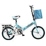 YEARLY Schüler klappräder, Kinderfahrrad Faltbare fahrräder Kinder Studenten Kinder im Alter von ≥8-blau B 20inch