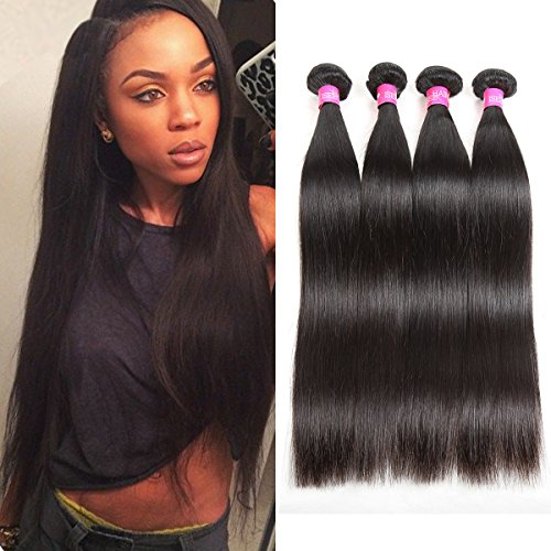 20\ &20\ &22\ &22\ : ISEE Hair 7A Malaysian Virgin Straight Hair 4 Bundles 100% Unprocessed Human Hair Weave Bundles...
