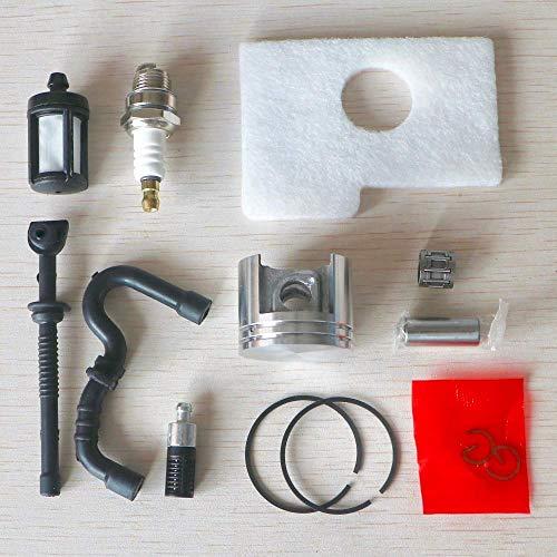 AiCheaX Tools - 38MM Kolbenringbolzen-Kit Luft-Kraftstoff-Öl-Leitungsfilter Zündkerzenschwamm Ersatz passend für Stihl 018 MS180 MS 180 Kettensäge