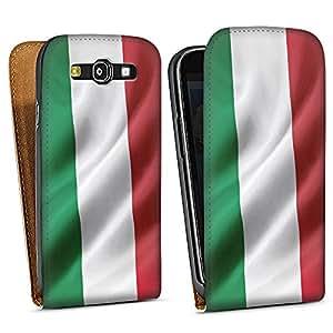 Samsung Galaxy S3 Tasche Schutz Hülle Walletcase Bookstyle Italien Flagge Italy Fahne