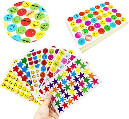 1470PCS Pegatinas Infantiles Liuer Stickers Agenda Profesores Padres Recompensa Smiley Estrella Modelo...