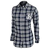 Forever Collectibles MLB Damen Wordmark Flanell Shirt, Damen, New York Yankees