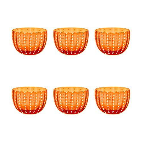 Livellara CARNIVAL Schale Ø 10,5 cm. Elegantes 6-er Set Dessertschalen. Ein Eyecatcher für festlichen Anlässen oder den täglichen Gebrauch. Hochwertiges Glas. Robust. Kratzfest. Spülmaschinengeeignet.