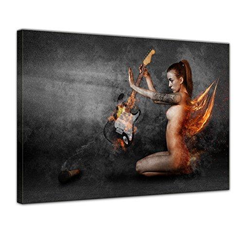 (Bilderdepot24 Leinwandbild Kunstdruck - Spiel mit dem Feuer - 70x50 cm - Leinwandbilder - Bilder als Leinwanddruck - Wandbild)