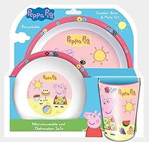 Peppa Pig Tropical set composé d'un verre, bol & assiette