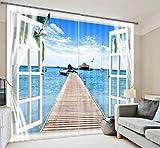 Wapel Fantasy Meer Himmel 3D Foto Drucken Ausfallfenster Vorhänge Für Wohnzimmer Betten Zimmer Hotel/Büro Vorhänge 260X320CM