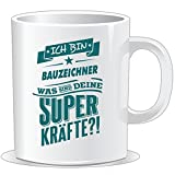 getshirts - RAHMENLOS® Geschenke - Tasse - Superpower Bauzeichner - petrol - uni uni