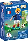 Joueur de football avec fonction de tir à une main. Maillot avec l'emblème de l'équipe de France. Comprend un ballon et une cage de foot pour s'entraîner aux tirs au but.©FIFA, FIFA's Official Licensed Product Logos, and the Emblems, Mascots, Posters...