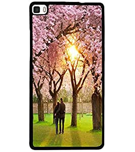 ColourCraft Lovely Couple Design Back Case Cover for HUAWEI P8