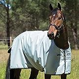 Horseware Amigo Hero 6 Turnout Lite 50g Silver/Black & Black (140)