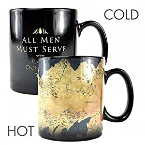 51jvZ3qvp4L. SS300  - Mug Heat Changing Boxed (400ml) - Game Of Thrones (Map)