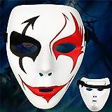 ILYMJ Pasos de la danza de Halloween, danza fantasma, máscara eco-material, bailarina de la máscara, danza callejera masculina, máscara de terror Máscaras