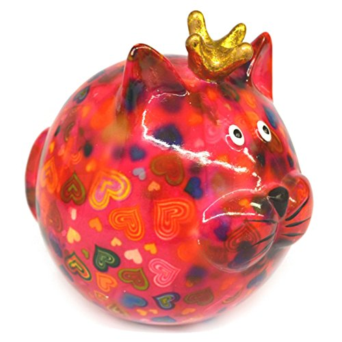 Preisvergleich Produktbild Spardose Katze -Frieda- rosa mit Herzen
