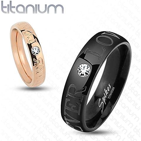 Bungsa socio coppia anello di titanio