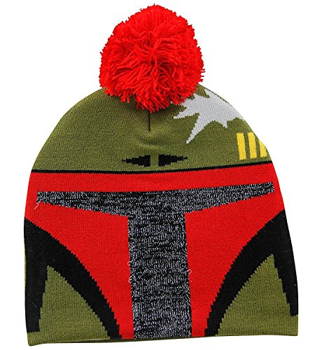 Star Wars Boba Fett Adult Knit Pom Beanie Hunter Knit Hat