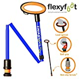 Flexyfoot Adjustable Folding Walking Stick with Oval Handle - Blue (825-975mm)