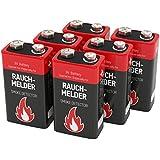 ANSMANN Batterie speziell für Rauchmelder Feuermelder Brandmelder CO-Melder Longlife Alkaline 9V E-Block (6er Pack) 6LR61 6AM6 MN1604 Rauchmelderbatterie 7 Jahre lagerfähig