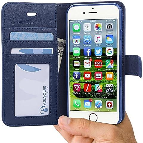 iPhone 6 Plus et iPhone 6S Plus Coque, Abacus24-7 iPhone 6S Plus Etui Portefeuille en Cuir écologique avec Poches pour Carte d'identité ou Bancaire - iPhone 6 Plus Coque,