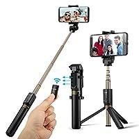 Versatile 2 in 1:  BlitzWolf Il più recente selfie bastone con telecomando è più che il tuo solito bastone selfie, il BS3 è un mini tripode versatile, treppiede da tavolo e bastone selfie.Telecomando trasportabile Bluetooth: È possibile separ...
