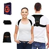 WORRING Premium Geradehalter zur Haltungskorrektur für Damen und Herren | atmungsaktives Rücken-korsett mit verstellbaren Gurten | hochwertiger Haltungs-trainer für eine gerade Körperhaltung | Orthopädischer Haltungs-gurt perfekt bei Rundrücken, Hohlkreuz, Skoliose, Nacken-, Schulter- & Rücken-schmerzen | Rücken-bandage ideal im Büro oder beim Sport | Posture Corrector & Rücken-stabilisator + Comfort-Polster & Tragetasche