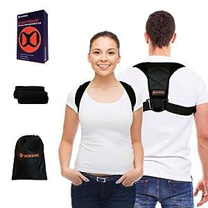 WORRING Premium Geradehalter zur Haltungskorrektur für Damen und Herren |hochwertiger Haltungstrainer für eine gesunde Körperhaltung | perfekt bei Rundrücken, Schulter- & Rückenschmerzen