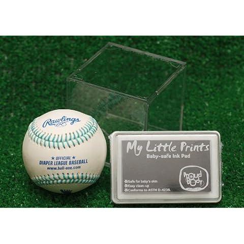 Personalized Baby Baseball Keepsake (Blue Stitching) by Baby Gift Idea - Baseball Keepsake