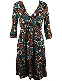 V-Neck Cross-Over Belted 3/4 Sleeve Dress. RRP: £35. Sizes 6-14