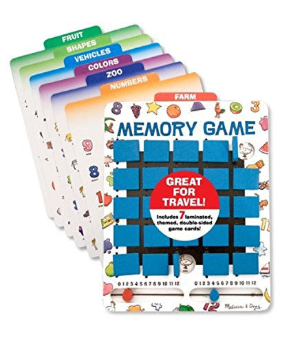 Melissa & Doug Flip-to-Win Memory Game (Travel Games, Bungee-Hinge Design, colourful Illustrations, 25 Pieces)