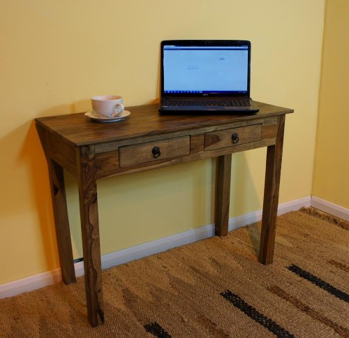 Sheesham Shaker Two Drawer Computer Desk