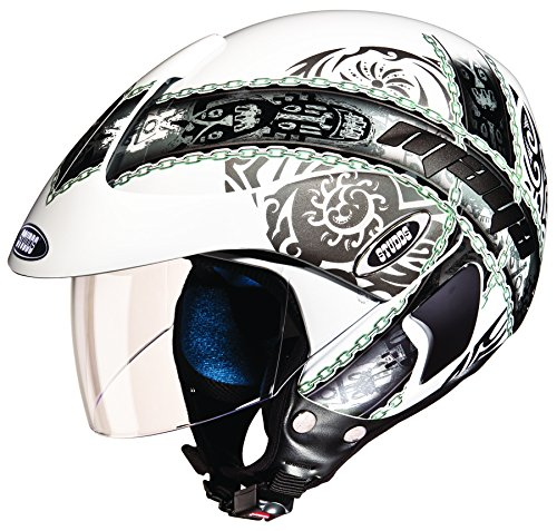 Studds Marshall D4 Open Face Helmet (White N4, XL)