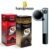Handpresso - PUMP silber Esspressomaschine + ESE Pad Sortiment