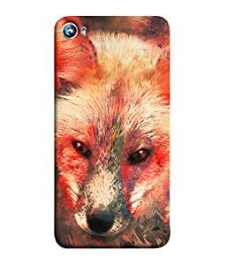 PrintVisa Colorful Fox 3D Hard Polycarbonate Designer Back Case Cover for Micromax Canvas Fire 4 A107