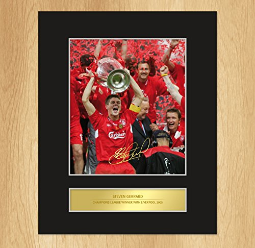 steven-gerrard-signed-mounted-photo-display-liverpool-champions-league
