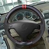 HCDSWSN Cubierta de Volante de Cuero de Microfibra Negra para Buick Sail Opel Astra GH 1998
