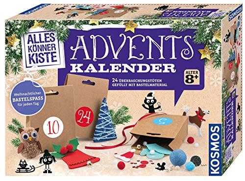 KOSMOS AllesKönnerKiste Bastel-Adventskalender, für Mädchen und Jungen ab 8 Jahren, einfaches Weihnachtsbasteln für die ganze Familie, kreative kleine Geschenke für Kinder und Erwachsene gestalten