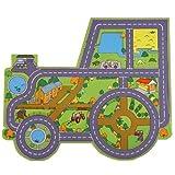 Be-Active Die Riesige Traktor und Bauernhof Spielmatte: eine tolle Ergänzung für das Spiel- oder Schlafzimmer sowie Kindertagesstätte oder Klassenraum
