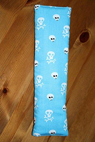 Auto Gurtpolster für Kinder und Erwachsene blau mit Totenköpfen Skulls