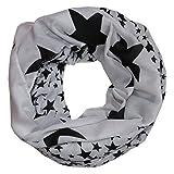ACC leichter Sterne Loop Schal - tolle Farben (weiß schwarz)
