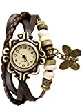 #9: Meclow Design Brown Leather Belt Bracelets Watch