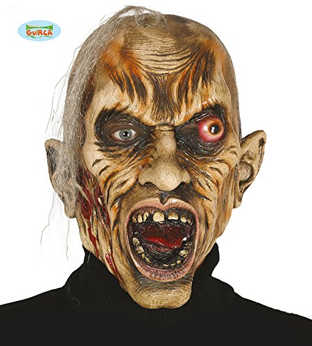 Guirca Gruselige Halloween Zombiemaske Maske Zombie Blut Monster Schädel Horror Zombie Haare Party
