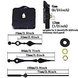 Quarz Uhr Bewegungen Mechanismus Teile, 3/63,5cm Maximale Ziffernblatt Dicke, 1/5,1cm, Schaft Länge