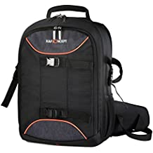 K&F Concept - Mochila Fotograficas (cámara, lentes, flash, trípode, ordenador portátil), color negro, tamaño: