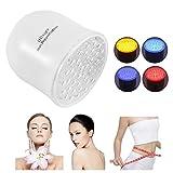 4 Farben Photon Therapie Vibrationsmassager mit 4 LED Köpfe für Hautverjüngung, Gesichts-und Körperpflege Anti-Falten Ödeme Dehnungsstreifen Reparieren Brustkurve Gestalten