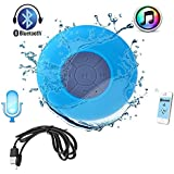 Samsung Galaxy Tab 3 7.0 WiFi Compatible Mini Portable Waterproof Bluetooth Wireless Shower Speaker With Powerful Suction Cup For All Devices With Built-in Control Buttons, Kid-friendly - Best For Bath, Pool, Car, Beach, Indoor/Outdoor Use BY JIKRA
